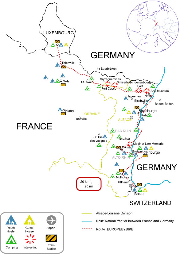 map of maginot line travel